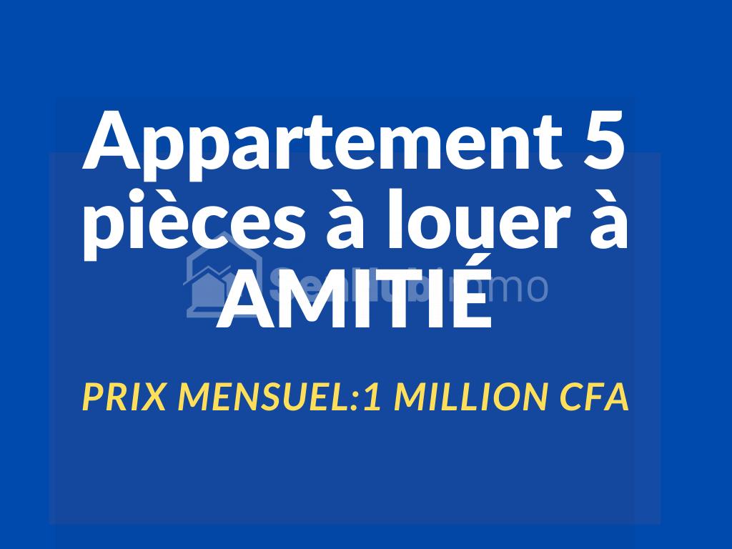 Appartement 5 pièces à louer à Amitié - SenhubImmo.com